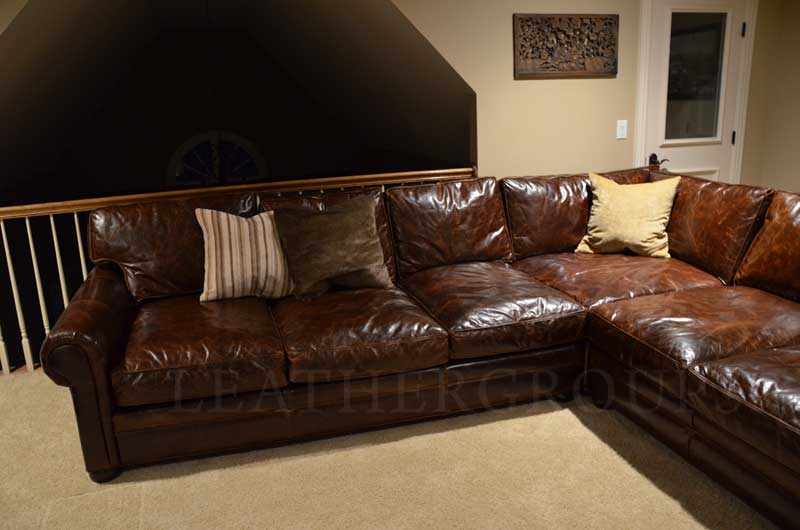 Michael's Langston Leather Sectional Sofa | Leather Furniture at .