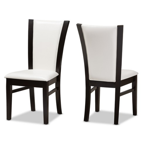 Set Of 2 Adley Modern And Contemporary Finished Faux Leather .