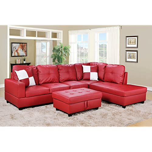 Red Leather Sectionals: Amazon.c
