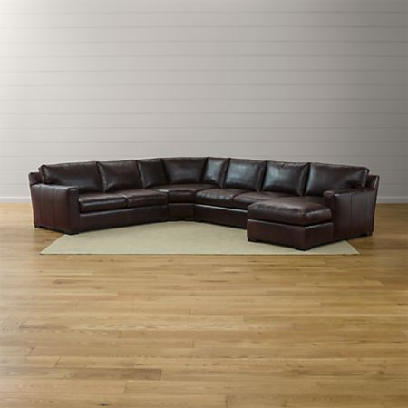 Axis II Leather 4-Piece Sectional So