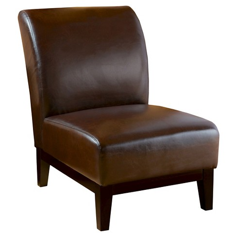 Darcy Slipper Chair Brown - Christopher Knight Home : Targ