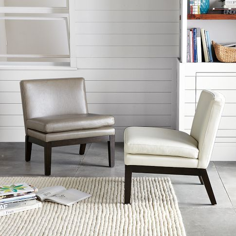 This leather slipper chair from West Elm looks really cool. But is .