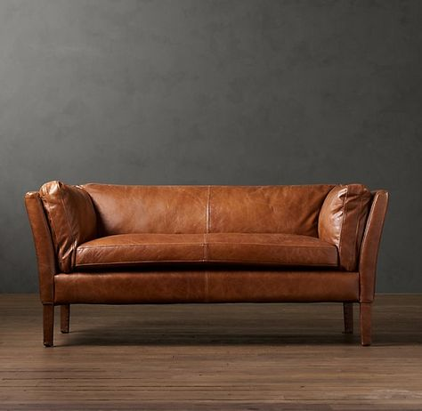 it's just logic people. | Small leather sofa, Tan leather sofas .