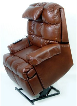 Full 100% Top Grain Leather Lift Chair Deluxe Packa