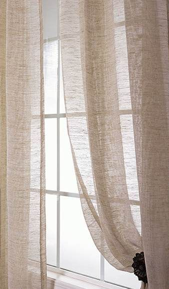 Sheer linen curtains,I would love something like this in my .