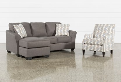 Tucker 2 Piece Living Room Set With Accent Chair   Living Spac