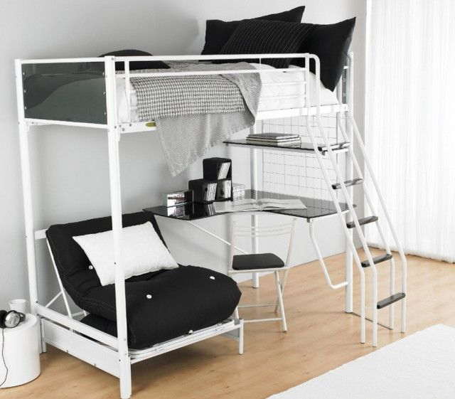 Pin on Bunk Bed With Desk/Wall Bed/Loft B