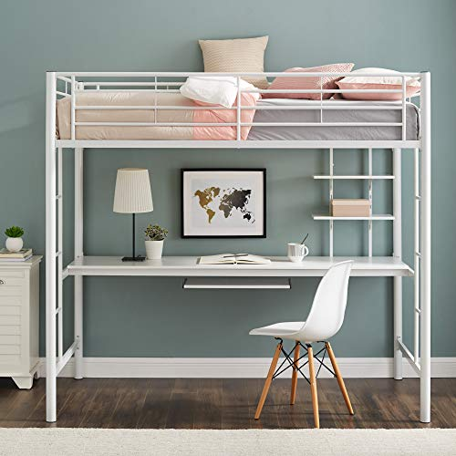 Find A Full Size Loft Bed With Desk Underneath: Perfect for Small .