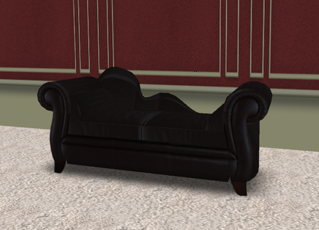 Second Life Marketplace - Fickle Designs Black Chaise Sofa .