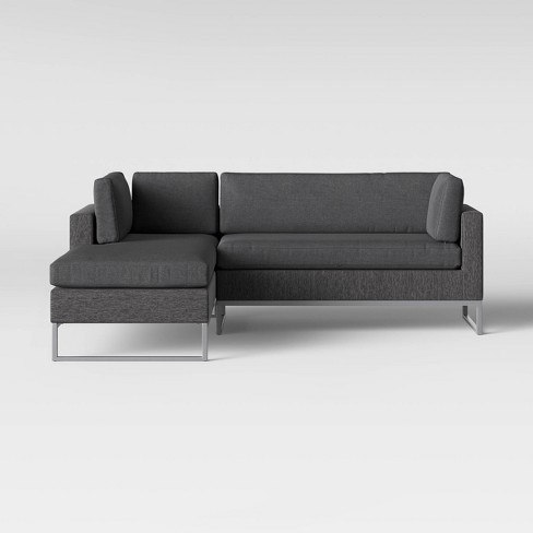 Howell 2pc Left Arm Patio Loveseat & Corner Chaise Lounge Chair .
