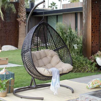 Hanging Egg Chair Loveseat For Luxury Outdoor Patios - Hammock To