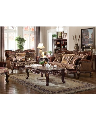 New Deals on Formal Traditional Sofa Set 2pc Antique Sofa Loveseat .