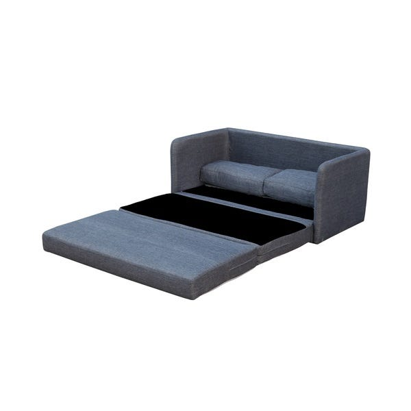 Shop Phillip Dark Grey Loveseat with Pullout Bed - On Sale .