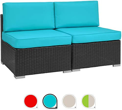 Amazon.com : Walsunny 2pcs Patio Outdoor Furniture Sets, Low Back .