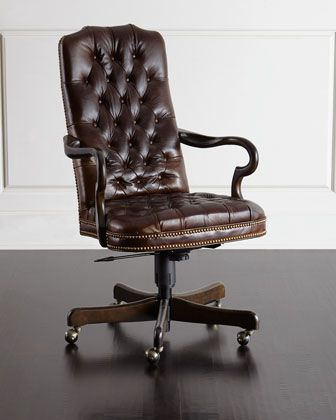 Massoud Blevens Tufted-Leather Office Chair | Best office chair .