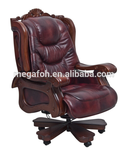 Guangzhou Luxury Office Furniture Antique Wood Base Inclinable .