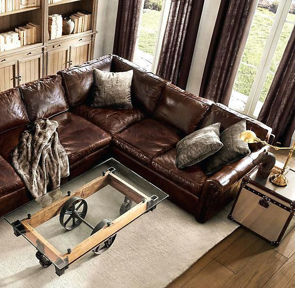 Luxury Leather Sectionals Original Leather L Sectional Luxury Sofa .