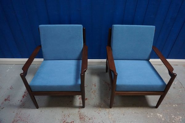 Danish Mid-Century Modern Armchairs, 1960s, Set of 2 for sale at .