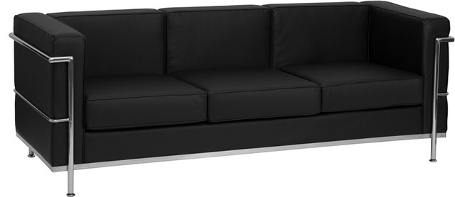 Hercules Regal Series Contemporary Leather Sofa With Encasing .