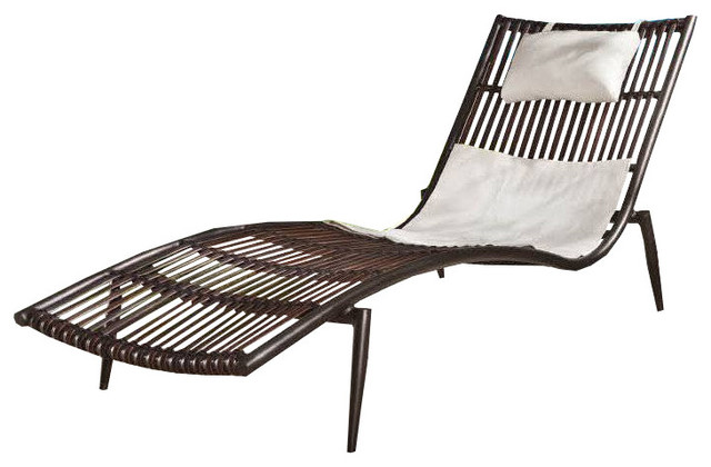 Kitaibela Chaise Lounge - Midcentury - Outdoor Chaise Lounges - by .