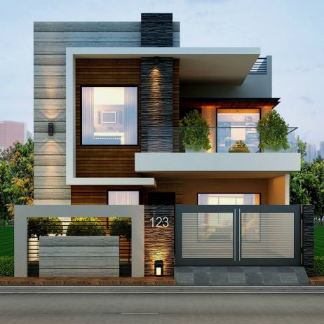 50 Best Modern Architecture Inspirations   House front design .
