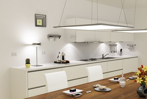 LED panel light fixtures - Modern and efficient home lighting .