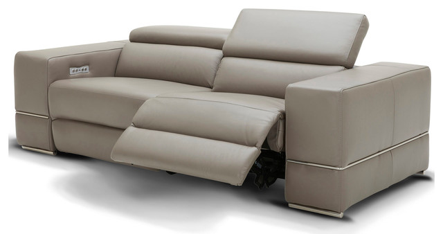 Modern Luxor Reclining Sofa With Power Headrests - Contemporary .