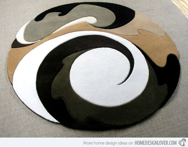 15 Geometrical and Artisitc Modern Round Area Rugs | Round area .