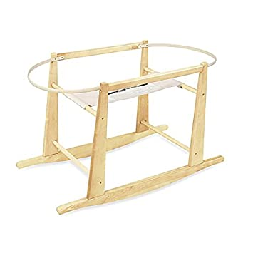 Amazon.com : Rocking Moses Basket Stand Natural : Bassinet Stand .