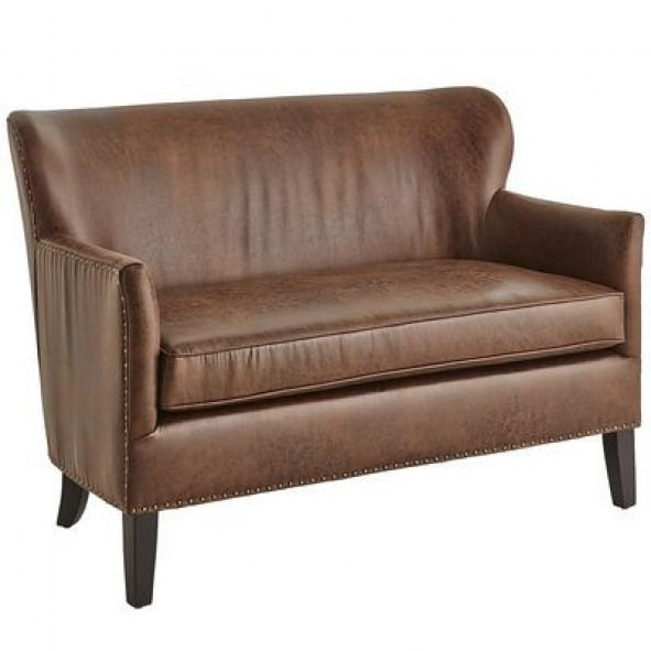 Lyndon Loveseat - Coffee Perfect for a narrow entryway--does this .