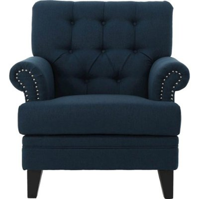 Noble House Fultondale Club Chair Navy Blue 301432 - Best B