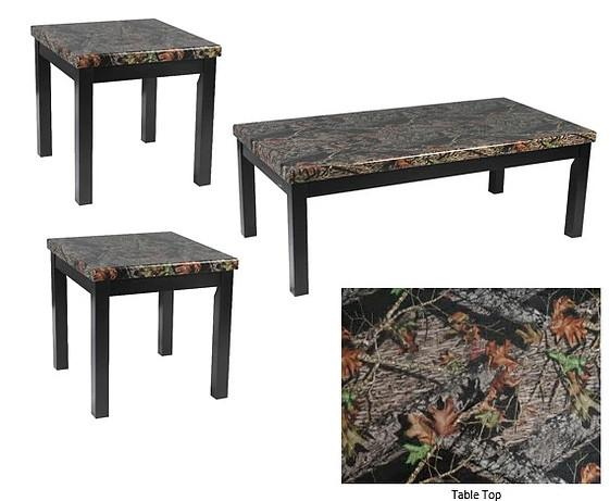 Mossy Oak Coffee Table Set; 3 PCS. SET – Pacific Imports, In