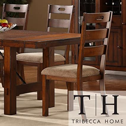 Amazon.com - These Rustic Oak Set Of 2 Dining Chairs Give a .