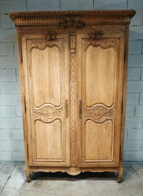 Antique Stripped Oak Wardrobe for sale at Pamo