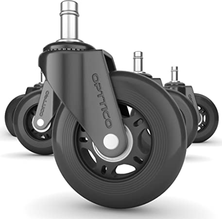 Amazon.com: OPTTICO Office Chair Caster Wheels Replacement - Black .