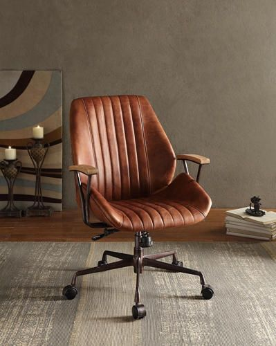 Add an edgy industrial style to your home office with the Hamilton .