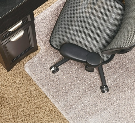Realspace Economy Studded Chair Mat For Low Pile Carpets 36 x 48 .