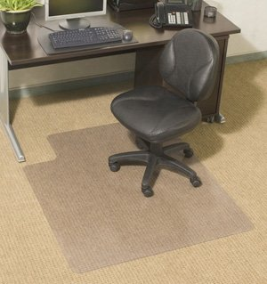 """Amazon.com : Chair Mats 36"""" x 48"""" with Lip for Carpeted Floors ."""