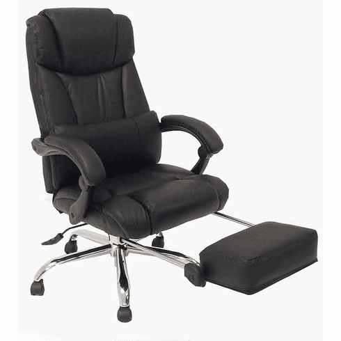 Leather Reclining Office Chair in Black or Bro