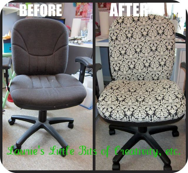 recover an office chair without sewing or stapling | Home office .