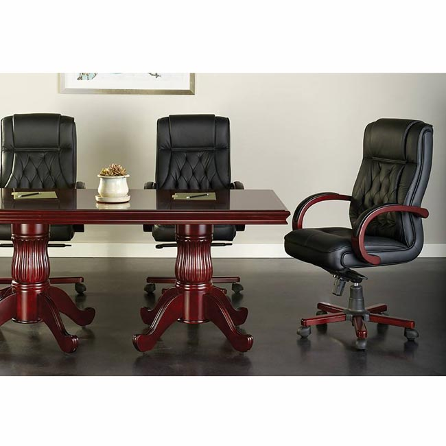 Office Star Leather Executive Chair - Twn300l-3   Executive Office .