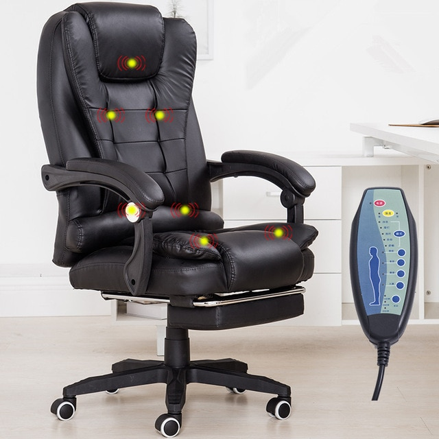Home Office Computer Desk Massage Chair With Footrest Reclining .