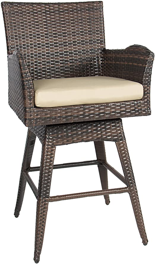 Amazon.com: Best Choice Products Outdoor All-Weather PE Wicker 360 .
