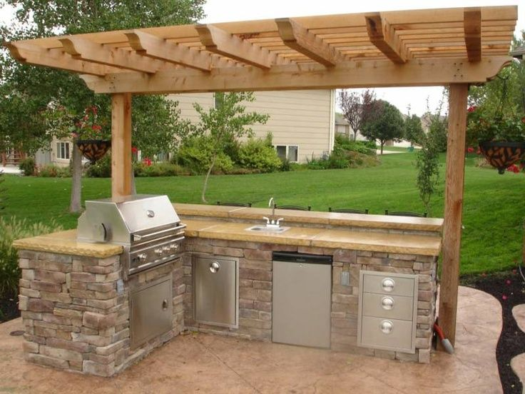 95 Cool Outdoor Kitchen Designs   Outdoor kitchen grill, Small .