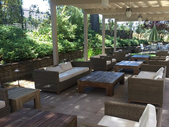 There is ample outdoor seating at Renwood Winery if you want to .