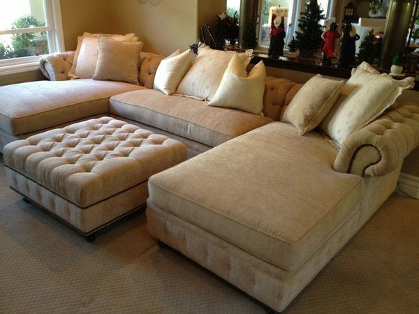 Oversized couches – welcoming and comfortable or huge and clumsy .