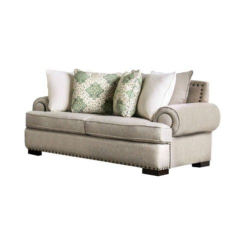 Artur Oversized Roll Arms Loveseat Brown - IoHOMES : Targ