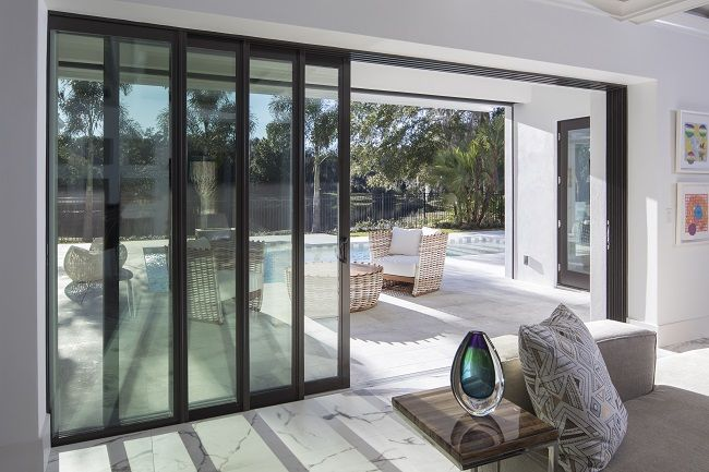 Sliding patio doors fit perfectly in rooms where there isn't an .