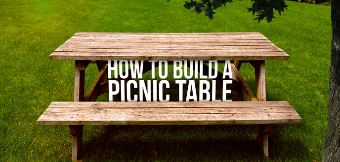 How to Build a DIY Picnic Table   Budget Dumpst
