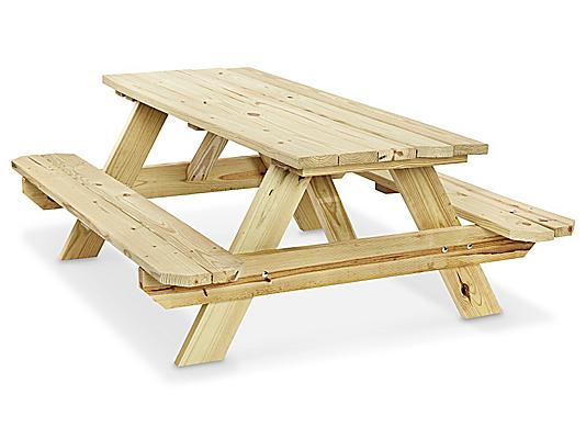 Deluxe A-Frame Wooden Picnic Table - 8' H-6577 - Uli